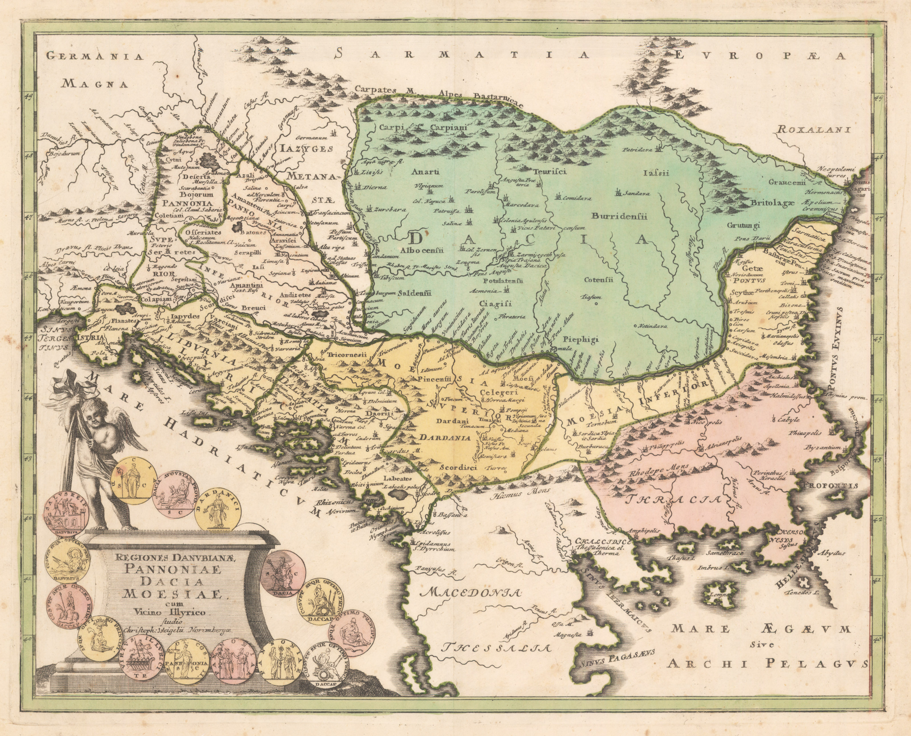 This Is An Antique Map Of Europe Southern Regiones Danubianae