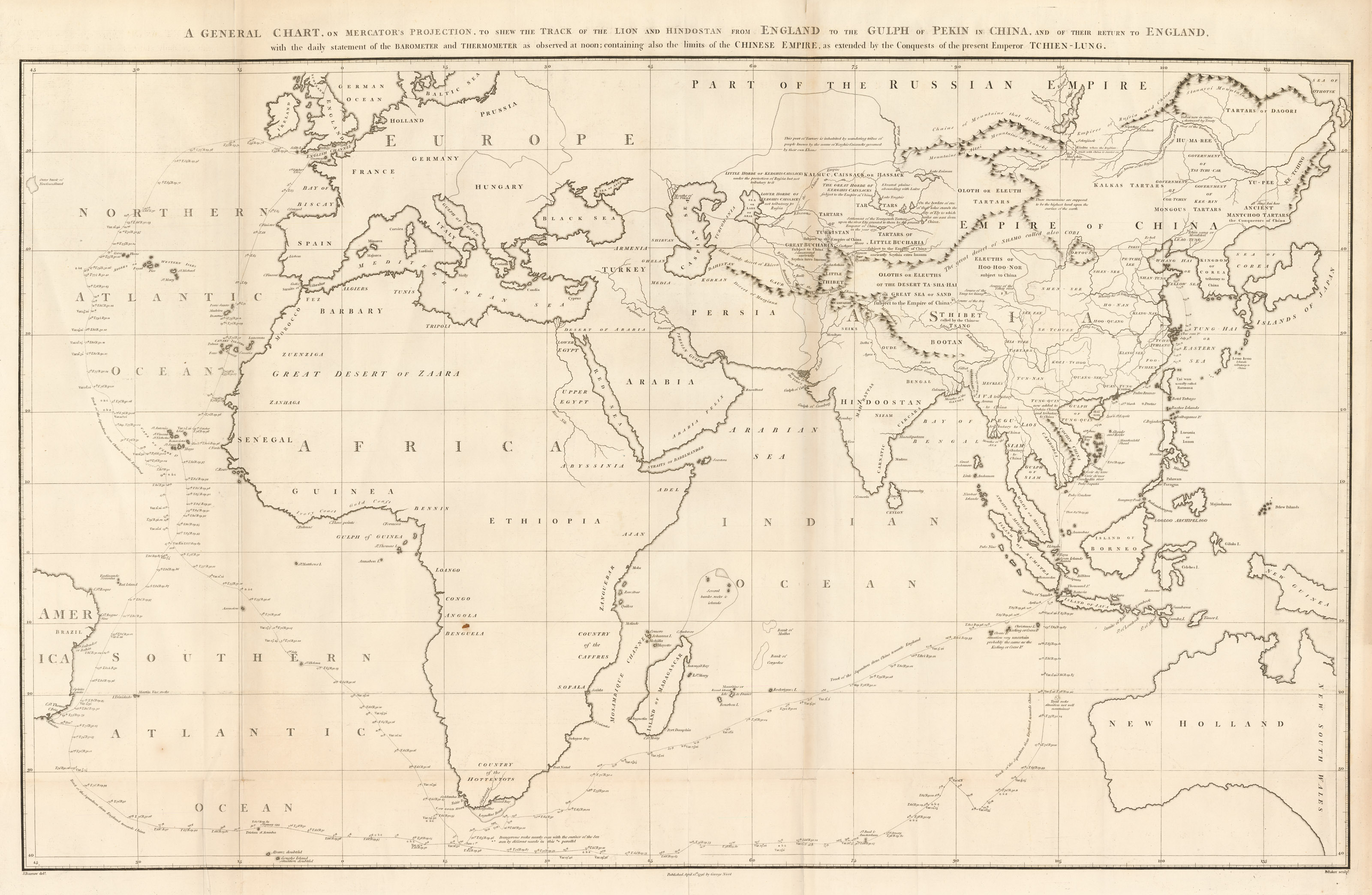 Sea Chart Of The Eastern Hemisphere Of The World Hjbmaps Com