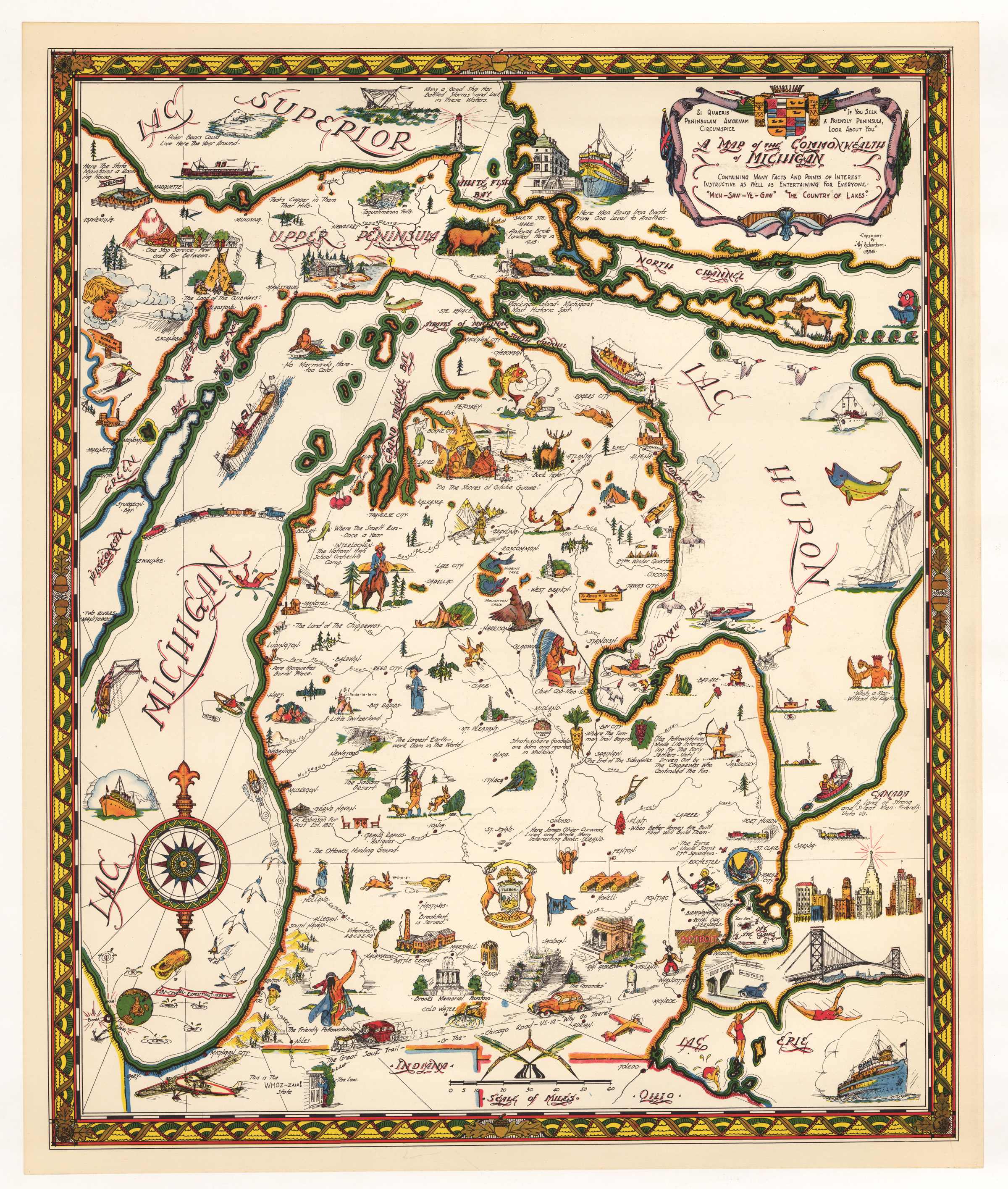 Pictorial Map Of The Commonwealth